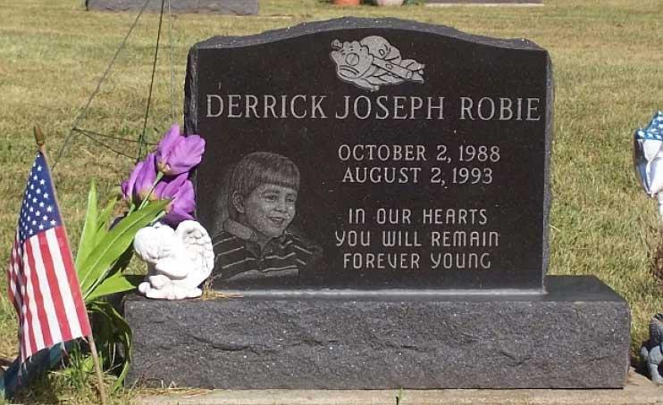 Derrick Robie's grave